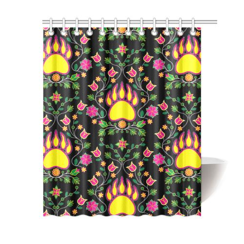 Floral Bearpaw Shower Curtain 60