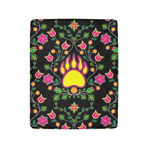 Floral Bearpaw Ultra-Soft Micro Fleece Blanket 40