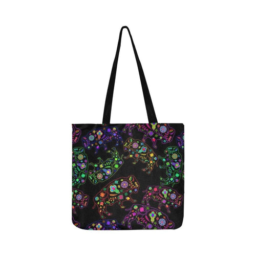 Floral Buffalo Reusable Shopping Bag Model 1660 (Two sides) Shopping Tote Bag (1660) e-joyer