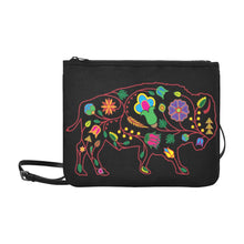 Floral Buffalo Slim Clutch Bag (Model 1668) Slim Clutch Bags (1668) e-joyer