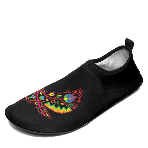 Floral Eagle Sockamoccs Kid's Slip On Shoes 49 Dzine