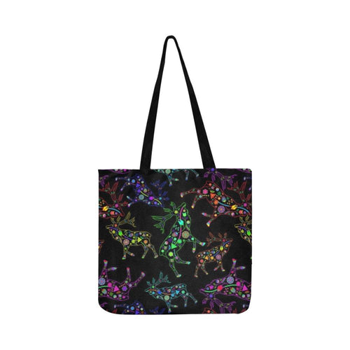 Floral Elk Reusable Shopping Bag Model 1660 (Two sides) Shopping Tote Bag (1660) e-joyer