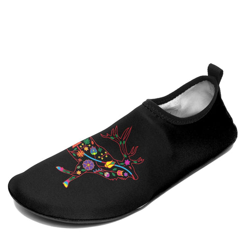 Floral Elk Sockamoccs Slip On Shoes 49 Dzine
