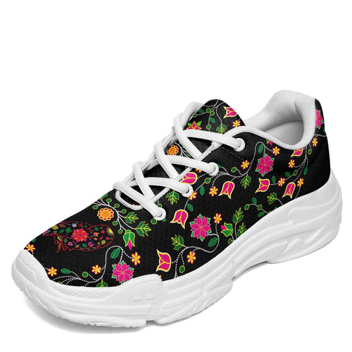 Floral Owl Chunky Breathable Mesh Casual Sneaker Shoes Herman US Women 4.5 / US Youth 3.5 / EUR 35 White Sole