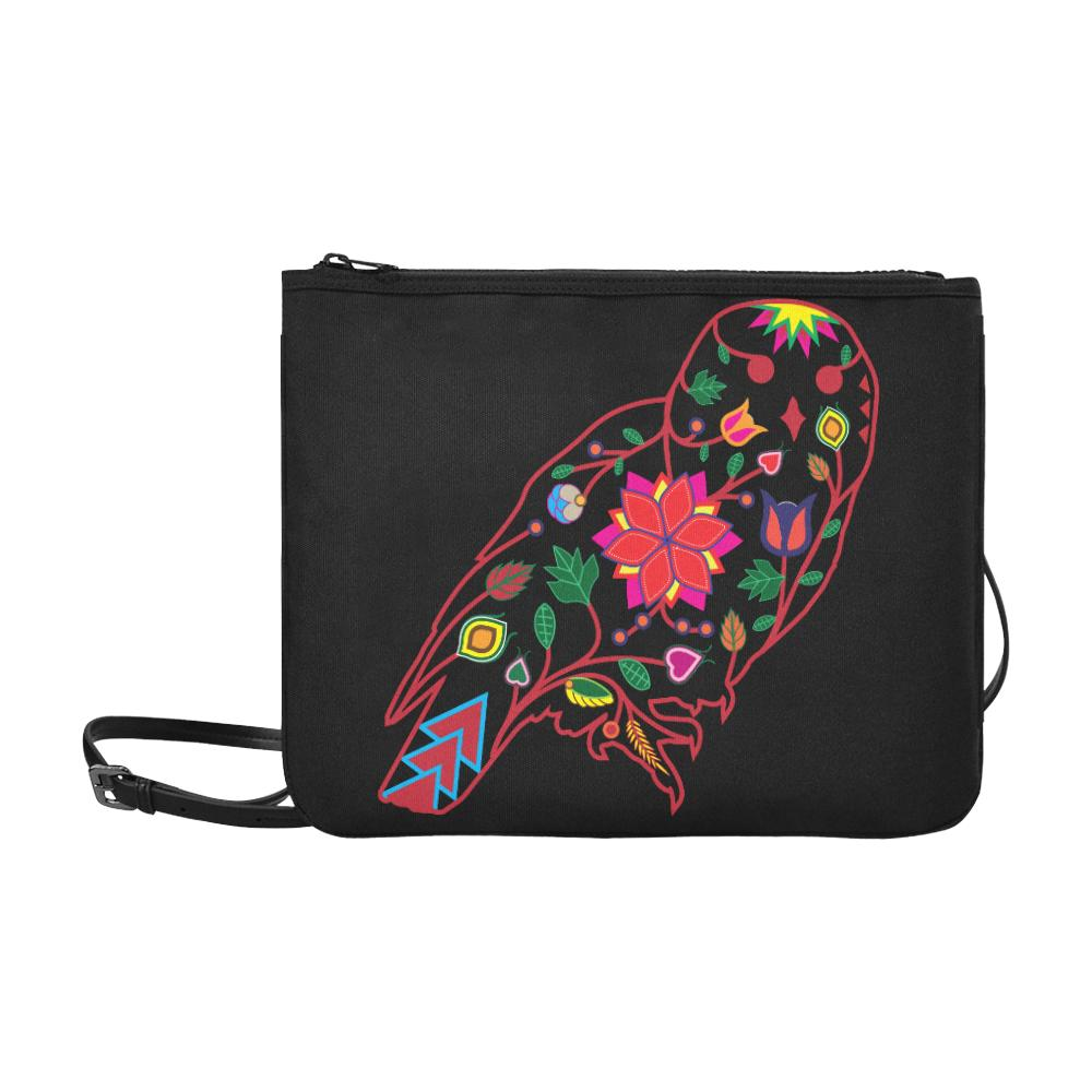 Floral Owl Slim Clutch Bag (Model 1668) Slim Clutch Bags (1668) e-joyer