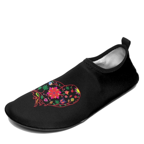 Floral Owl Sockamoccs Kid's Slip On Shoes 49 Dzine