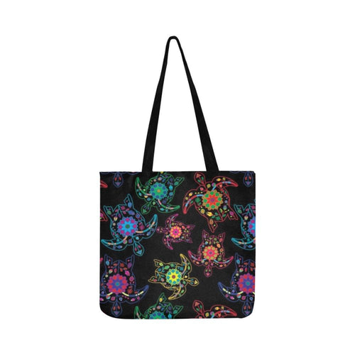 Floral Turtle Reusable Shopping Bag Model 1660 (Two sides) Shopping Tote Bag (1660) e-joyer