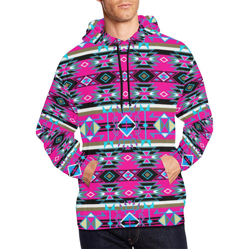 Force of Nature Sunset Storm All Over Print Hoodie for Men (USA Size) (Model H13) All Over Print Hoodie for Men (H13) e-joyer