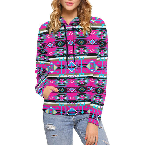 Force of Nature Sunset Storm All Over Print Hoodie for Women (USA Size) (Model H13) All Over Print Hoodie for Women (H13) e-joyer