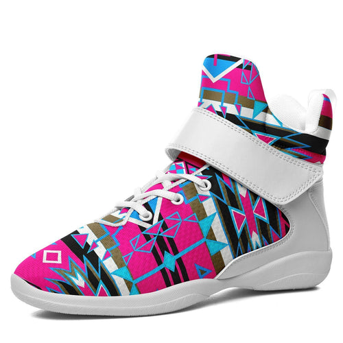 Force of Nature Sunset Storm Ipottaa Basketball / Sport High Top Shoes - White Sole 49 Dzine US Men 7 / EUR 40 White Sole with White Strap