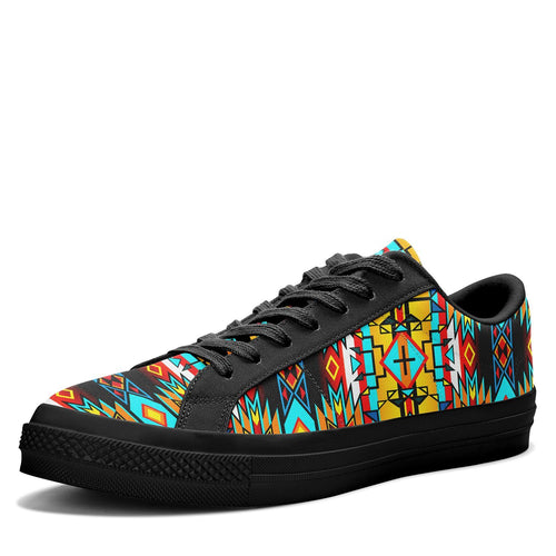 Force of Nature Twister Aapisi Low Top Canvas Shoes Black Sole 49 Dzine