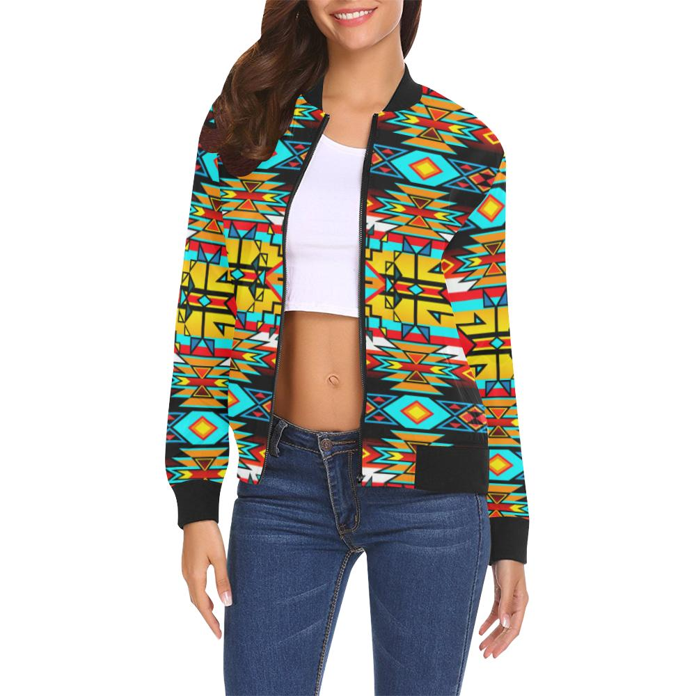 Force of Nature Twister All Over Print Bomber Jacket for Women (Model H19) All Over Print Bomber Jacket for Women (H19) e-joyer