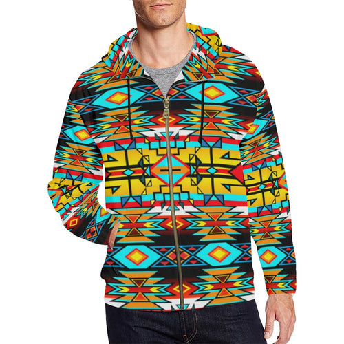 Force of Nature Twister All Over Print Full Zip Hoodie for Men (Model H14) All Over Print Full Zip Hoodie for Men (H14) e-joyer