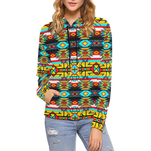 Force of Nature Twister All Over Print Hoodie for Women (USA Size) (Model H13) All Over Print Hoodie for Women (H13) e-joyer