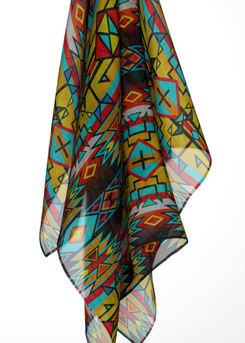 Force of Nature Twister Large Square Chiffon Scarf fashion-scarves 49 Dzine
