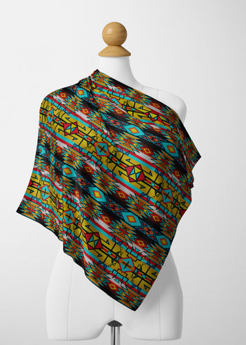 Force of Nature Twister Satin Shawl Scarf 49 Dzine