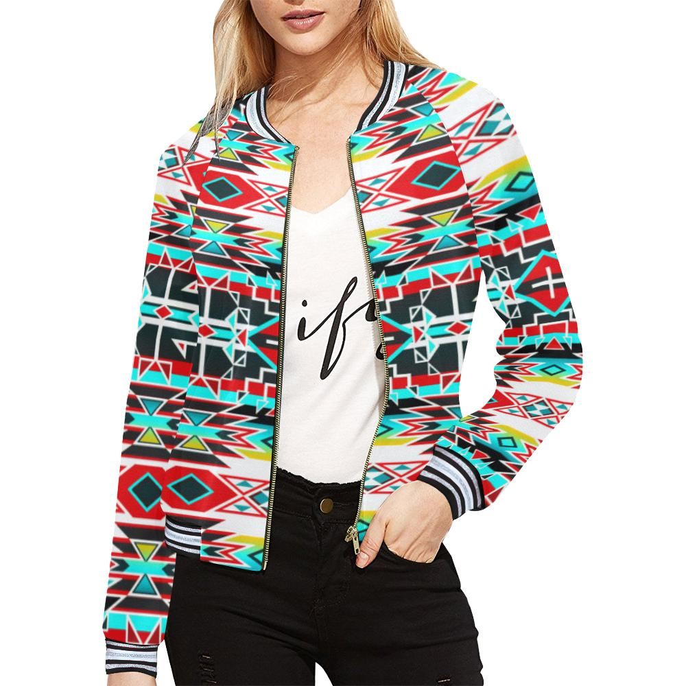Force of Nature Windstorm All Over Print Bomber Jacket for Women (Model H21) All Over Print Bomber Jacket for Women (H21) e-joyer
