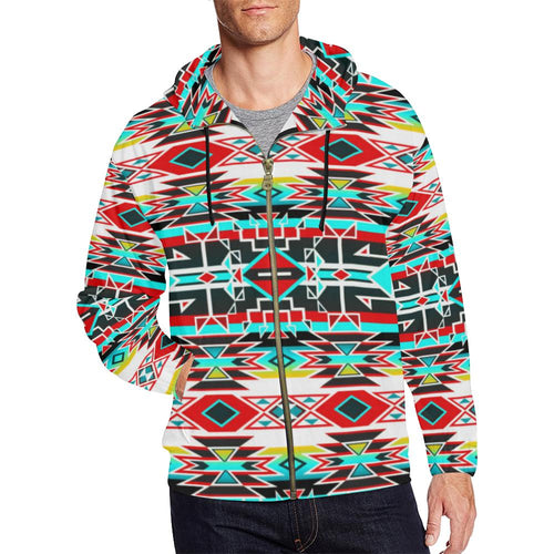 Force of Nature Windstorm All Over Print Full Zip Hoodie for Men (Model H14) All Over Print Full Zip Hoodie for Men (H14) e-joyer