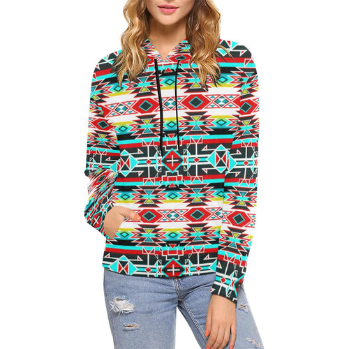 Force of Nature Windstorm All Over Print Hoodie for Women (USA Size) (Model H13) All Over Print Hoodie for Women (H13) e-joyer