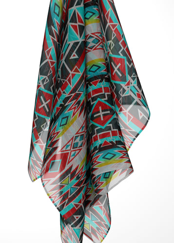 Force of Nature Windstorm Large Square Chiffon Scarf fashion-scarves 49 Dzine