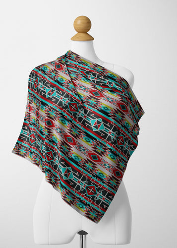 Force of Nature Windstorm Satin Shawl Scarf 49 Dzine