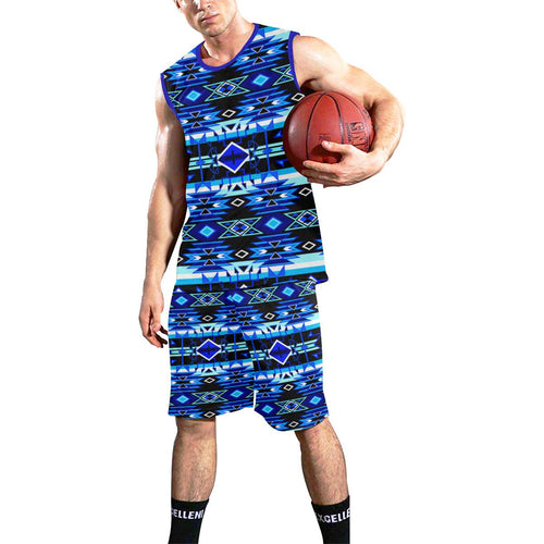 Force of Nature Winter Night All Over Print Basketball Uniform Basketball Uniform e-joyer