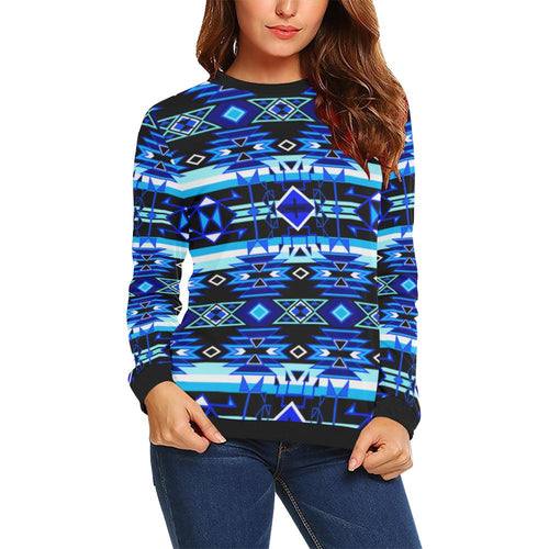 Force of Nature Winter Night All Over Print Crewneck Sweatshirt for Women (Model H18) Crewneck Sweatshirt for Women (H18) e-joyer