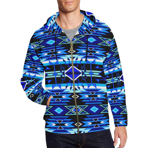Force of Nature Winter Night All Over Print Full Zip Hoodie for Men (Model H14) All Over Print Full Zip Hoodie for Men (H14) e-joyer