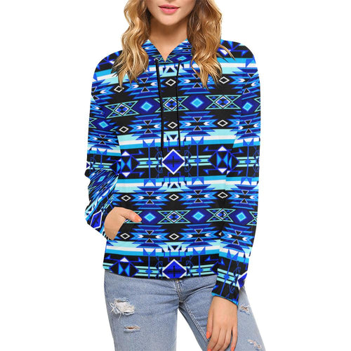 Force of Nature Winter Night All Over Print Hoodie for Women (USA Size) (Model H13) All Over Print Hoodie for Women (H13) e-joyer