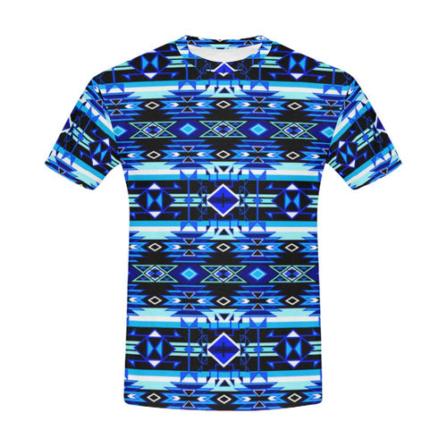 Force of Nature Winter Night All Over Print T-Shirt for Men (USA Size) (Model T40) All Over Print T-Shirt for Men (T40) e-joyer