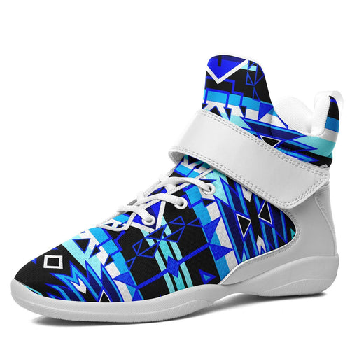 Force of Nature Winter Night Ipottaa Basketball / Sport High Top Shoes - White Sole 49 Dzine US Men 7 / EUR 40 White Sole with White Strap