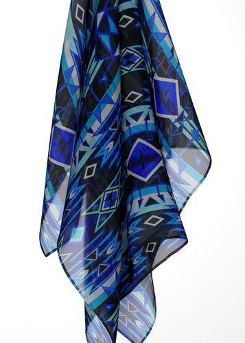 Force of Nature Winter Night Large Square Chiffon Scarf fashion-scarves 49 Dzine