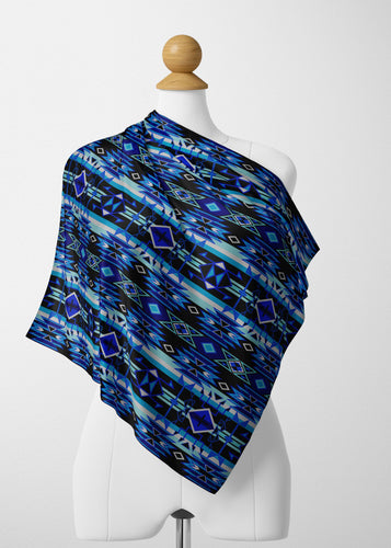 Force of Nature Winter Night Satin Shawl Scarf 49 Dzine