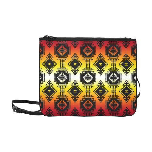 Gathering Fire Slim Clutch Bag (Model 1668) Slim Clutch Bags (1668) e-joyer