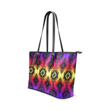Gathering Sunset Tote Bag/Large (Model 1640) Leather Tote Bag (1640) e-joyer