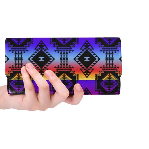 Gathering Sunset Women's Trifold Wallet (Model 1675) Women's Trifold Wallet e-joyer