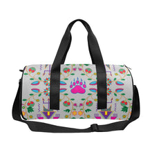 Geometric Floral Fall - Gray Duffle Bag (Model 1679) Duffle Bag (1679) e-joyer