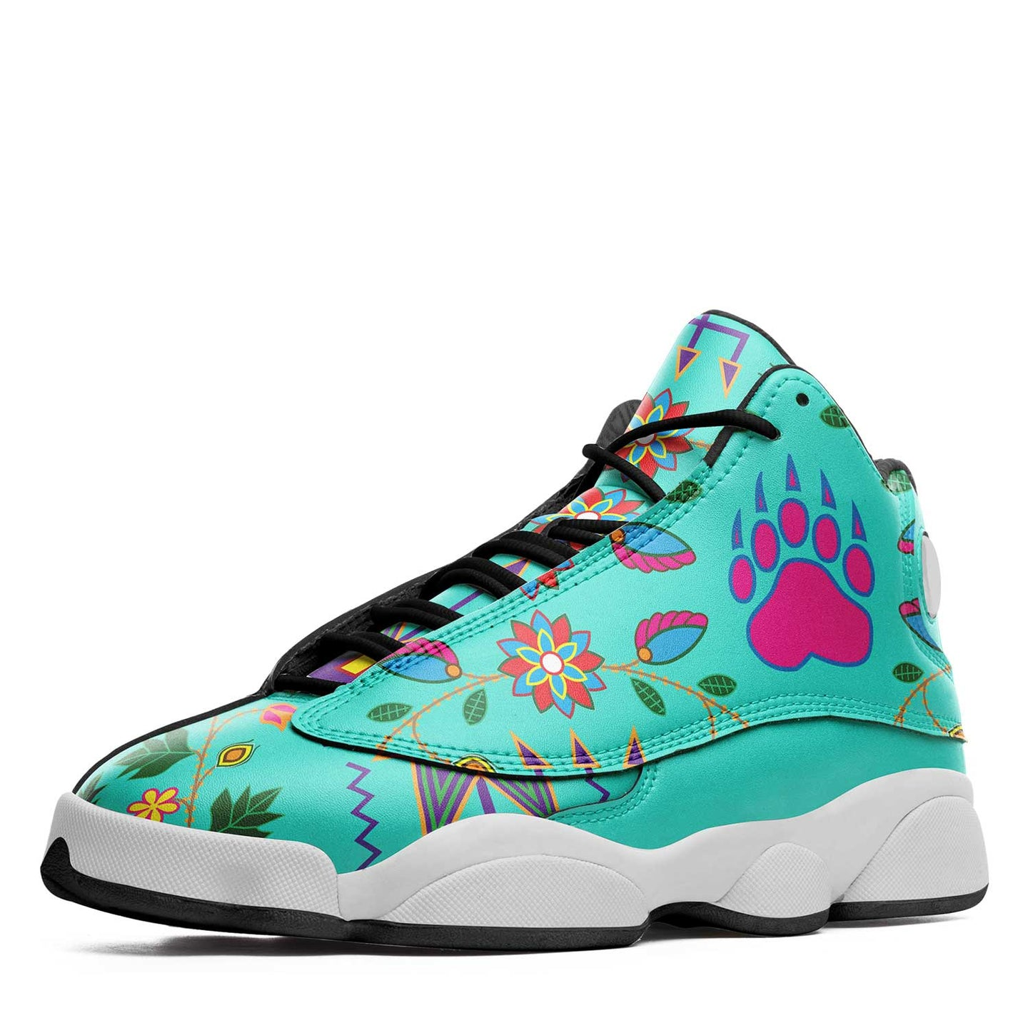 Geometric Floral Fall Sky Isstsokini Athletic Shoes Herman