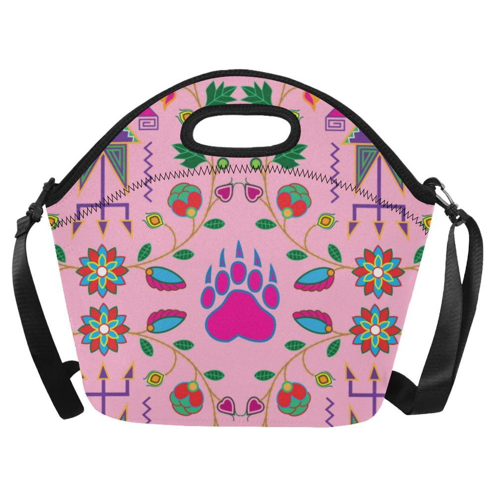 Geometric Floral Fall-Sunset Neoprene Lunch Bag/Large (Model 1669) Neoprene Lunch Bag/Large (1669) e-joyer
