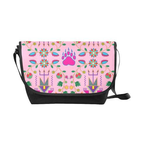 Geometric Floral Fall-Sunset New Messenger Bag (Model 1667) New Messenger Bags (1667) e-joyer