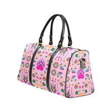 Geometric Floral Fall-Sunset New Waterproof Travel Bag/Large (Model 1639) Waterproof Travel Bags (1639) e-joyer