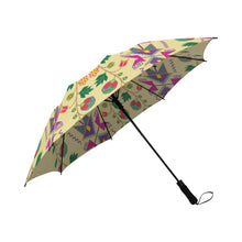 Geometric Floral Fall-Vanilla Semi-Automatic Foldable Umbrella Semi-Automatic Foldable Umbrella e-joyer