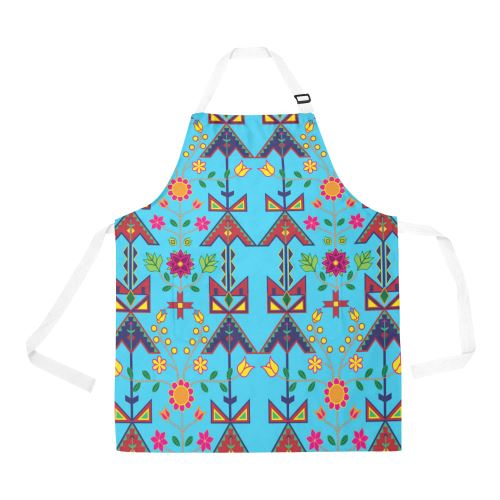 Geometric Floral Spring All Over Print Apron All Over Print Apron e-joyer
