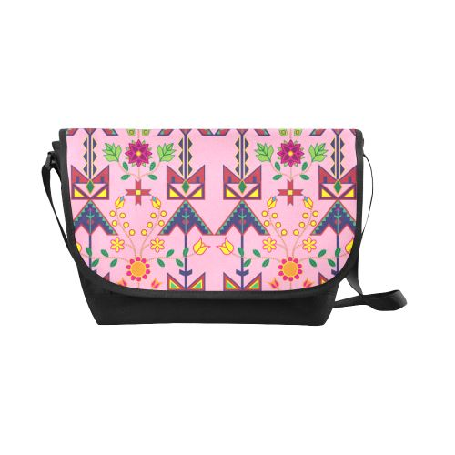 Geometric Floral Spring-Sunset New Messenger Bag (Model 1667) New Messenger Bags (1667) e-joyer