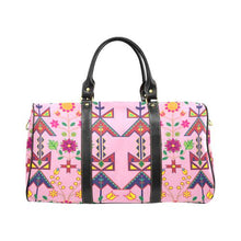 Geometric Floral Spring-Sunset New Waterproof Travel Bag/Large (Model 1639) Waterproof Travel Bags (1639) e-joyer