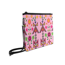 Geometric Floral Spring-Sunset Slim Clutch Bag (Model 1668) Slim Clutch Bags (1668) e-joyer