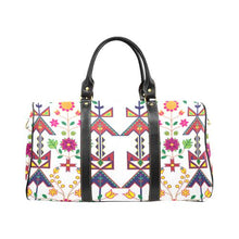Geometric Floral Spring-White New Waterproof Travel Bag/Large (Model 1639) Waterproof Travel Bags (1639) e-joyer