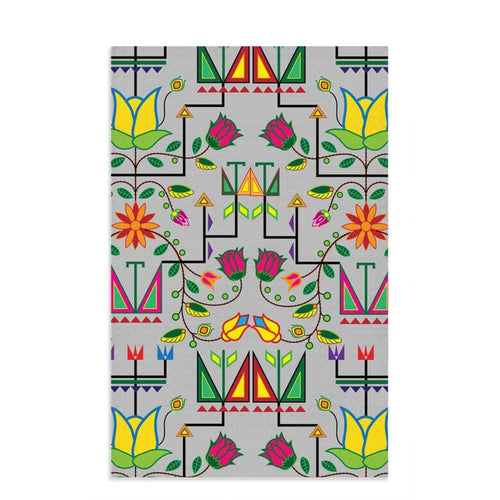 Geometric Floral Summer - Gray Dish Towels 49 Dzine 16x25 inch