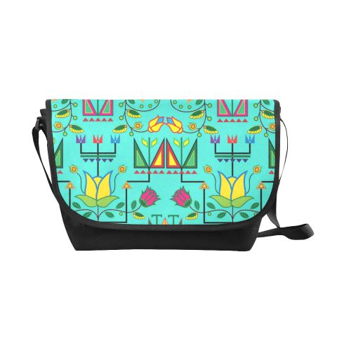Geometric Floral Summer-Sky New Messenger Bag (Model 1667) New Messenger Bags (1667) e-joyer