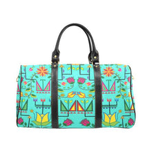 Geometric Floral Summer-Sky New Waterproof Travel Bag/Large (Model 1639) Waterproof Travel Bags (1639) e-joyer